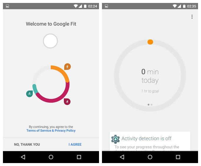 Android Lollipop Google Fit sur Nexus 4