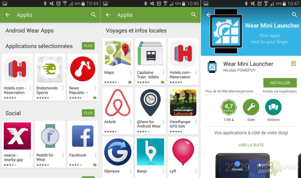 android wear google play store