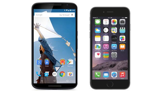 comparatif iphone 6 plus nexus 6