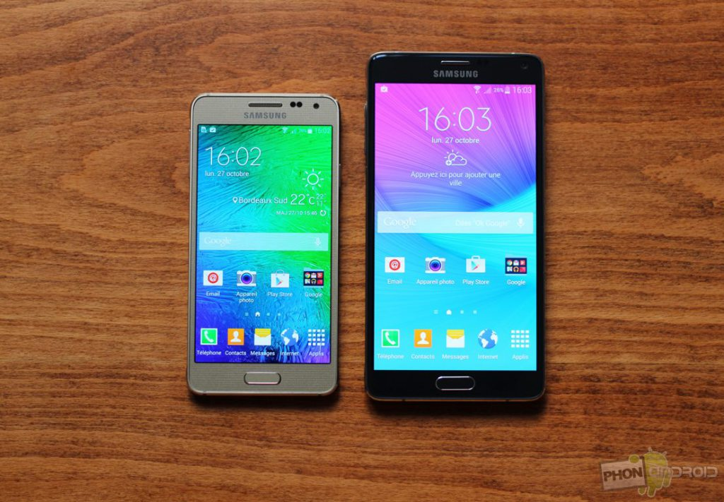 galaxy alpha vs note 4