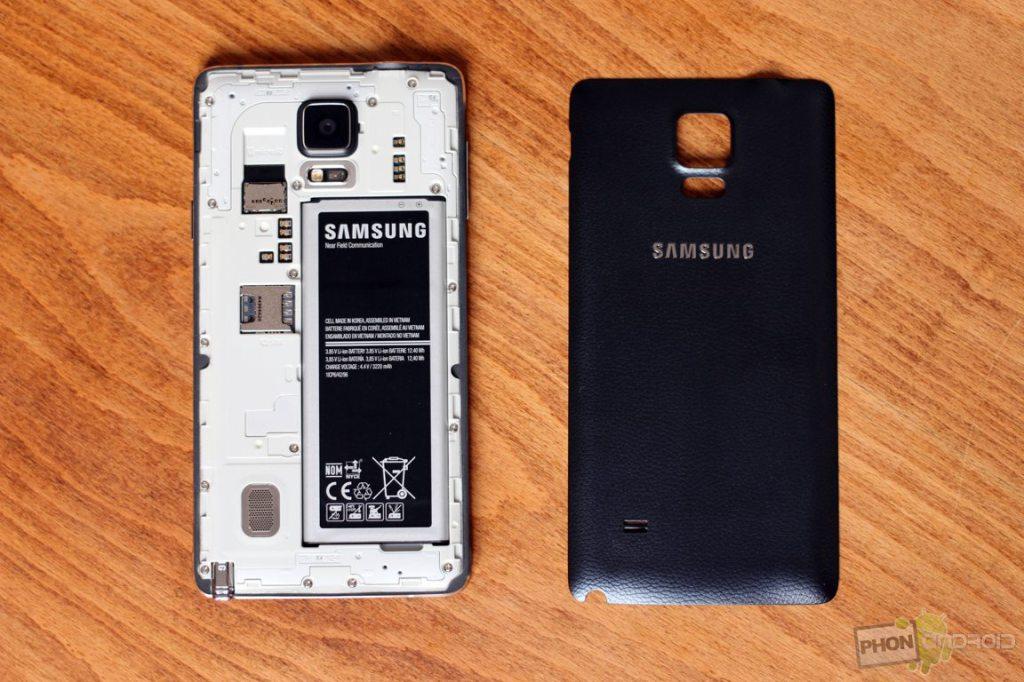 galaxy note 4 batterie amovible
