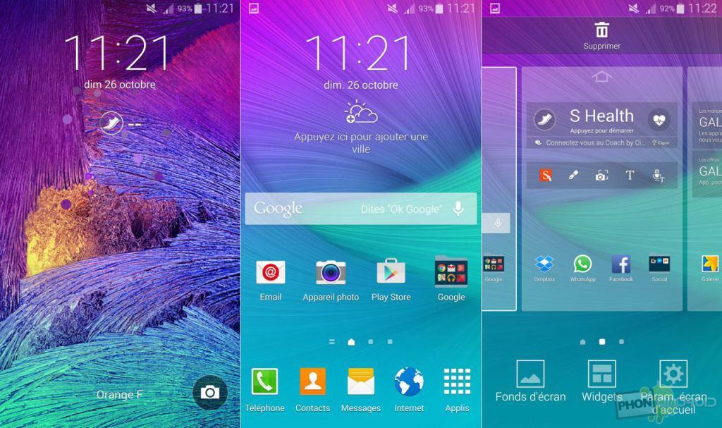 galaxy note 4 interface touchwiz