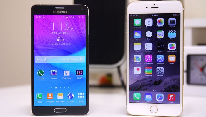 Galaxy Note 4 iPhone 6 Plus