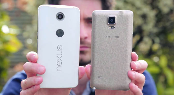 galaxy note 4 nexus 6