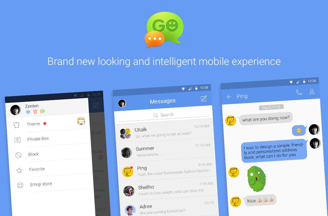 GO SMS Pro Material Design et des fonctionnalités disparues