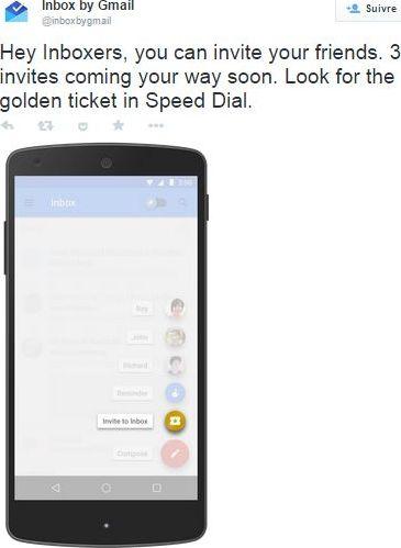 invitations Google Inbox
