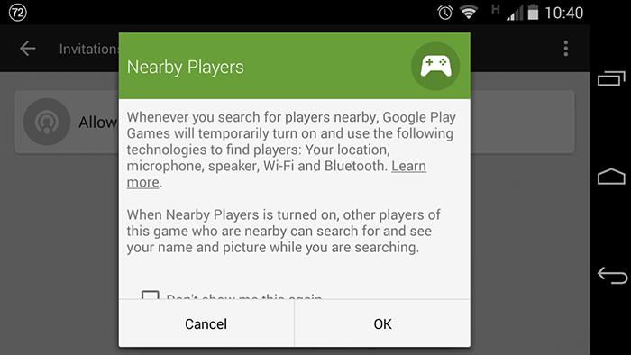 google play services joueur proximité