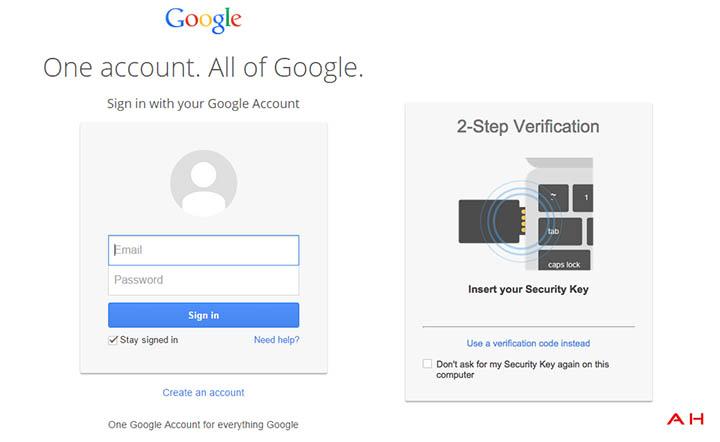 google securite cle physique