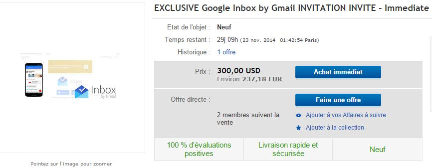 Google Inbox Invitations