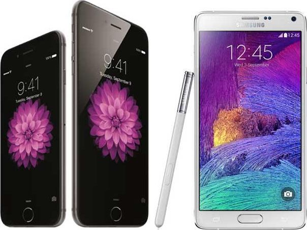 Test Galaxy Note 4 iPhone 6