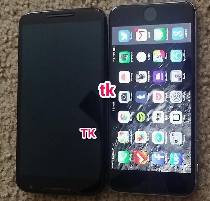 Nexus 6 vs iPhone 6 Plus : une nouvelle photo apparaît