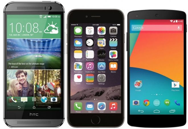 iPhone 6 vs HTC One M8 vs Nexus 6