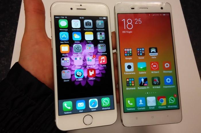 iPhone 6 vs Xiaomi Mi4