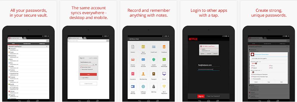 lastpass-meilleures-applications-mot-de-passe-android