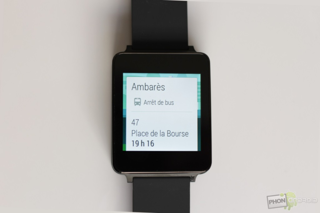 lg g watch cartes
