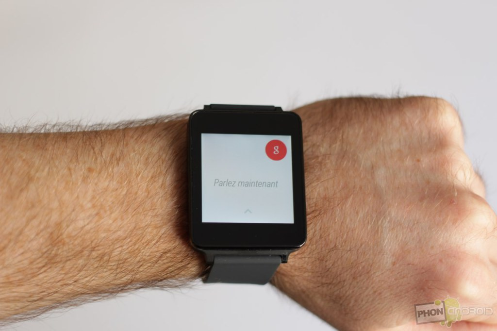 lg g watch google now