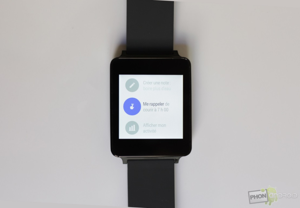 lg g watch notes