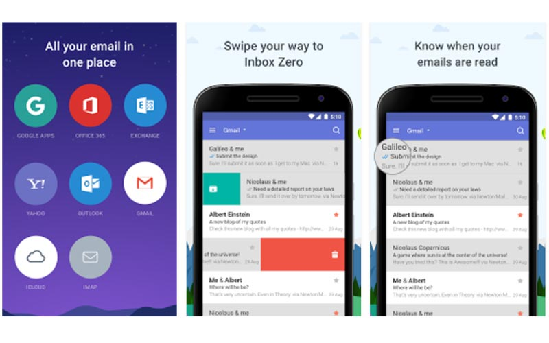 Clients Mails Android : les meilleures applications