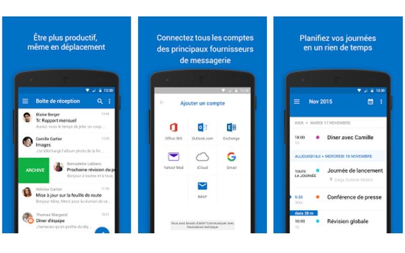 Clients Mails Android : les meilleures applications