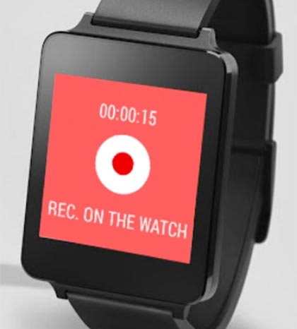 meilleure application android wear audio recorder