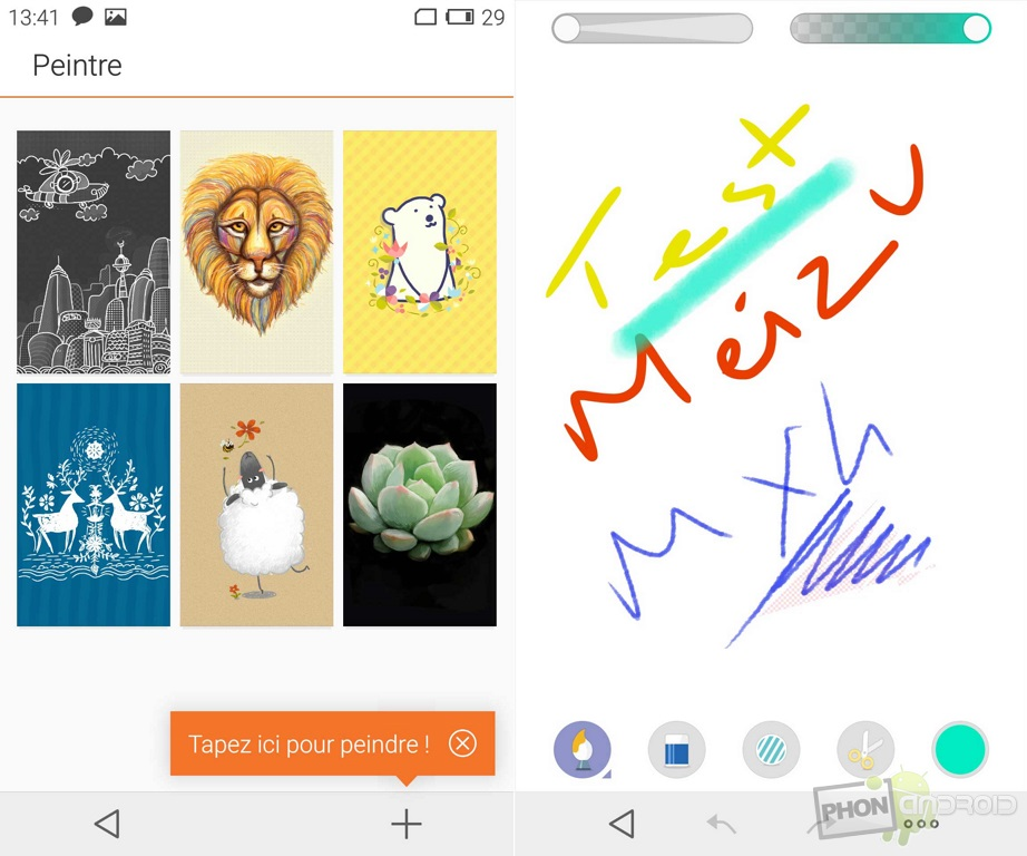 meizu mx4 application dessin