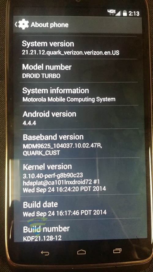 motorola droid turbo specs