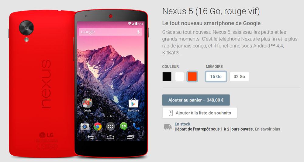 nexus 5 google play store