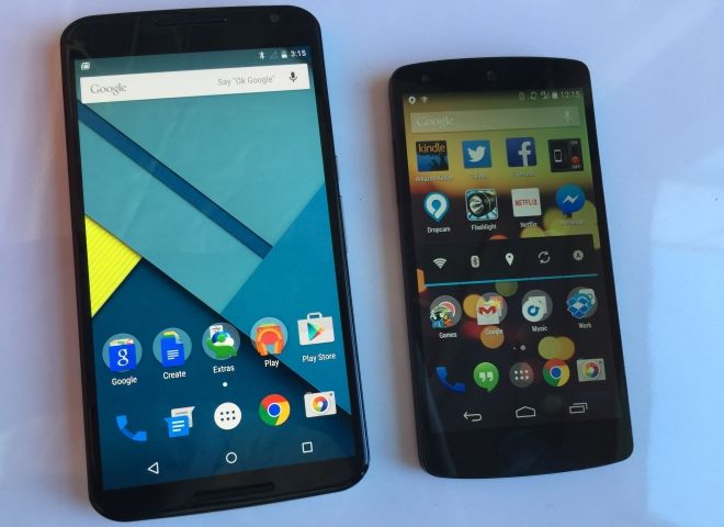 Nexus 6 vs nexus 5 doit on acheter le nouveau ou for Photo ecran android 6
