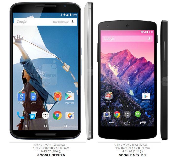 Nexus 6 vs Nexus 5