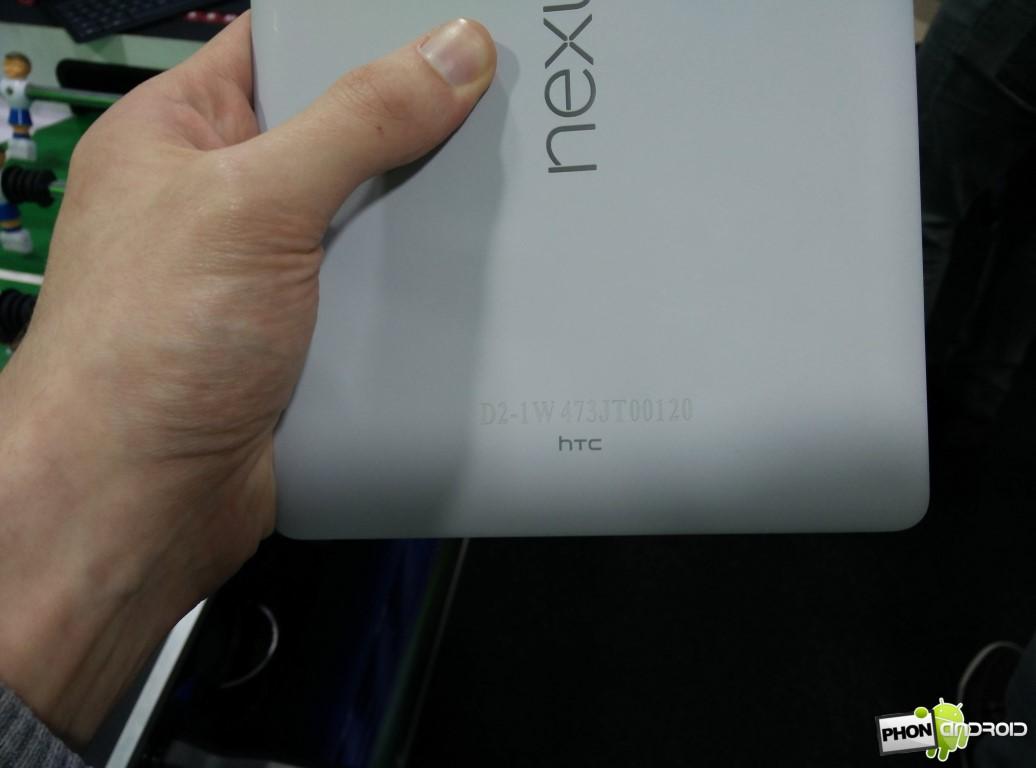 Nexus 9 détail coque arrière