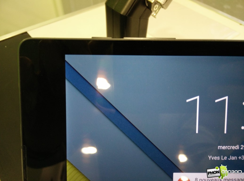 Nexus 9 détail écran