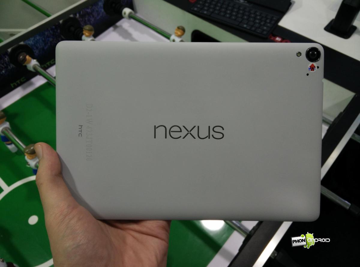 Nexus 9 prise en main dos