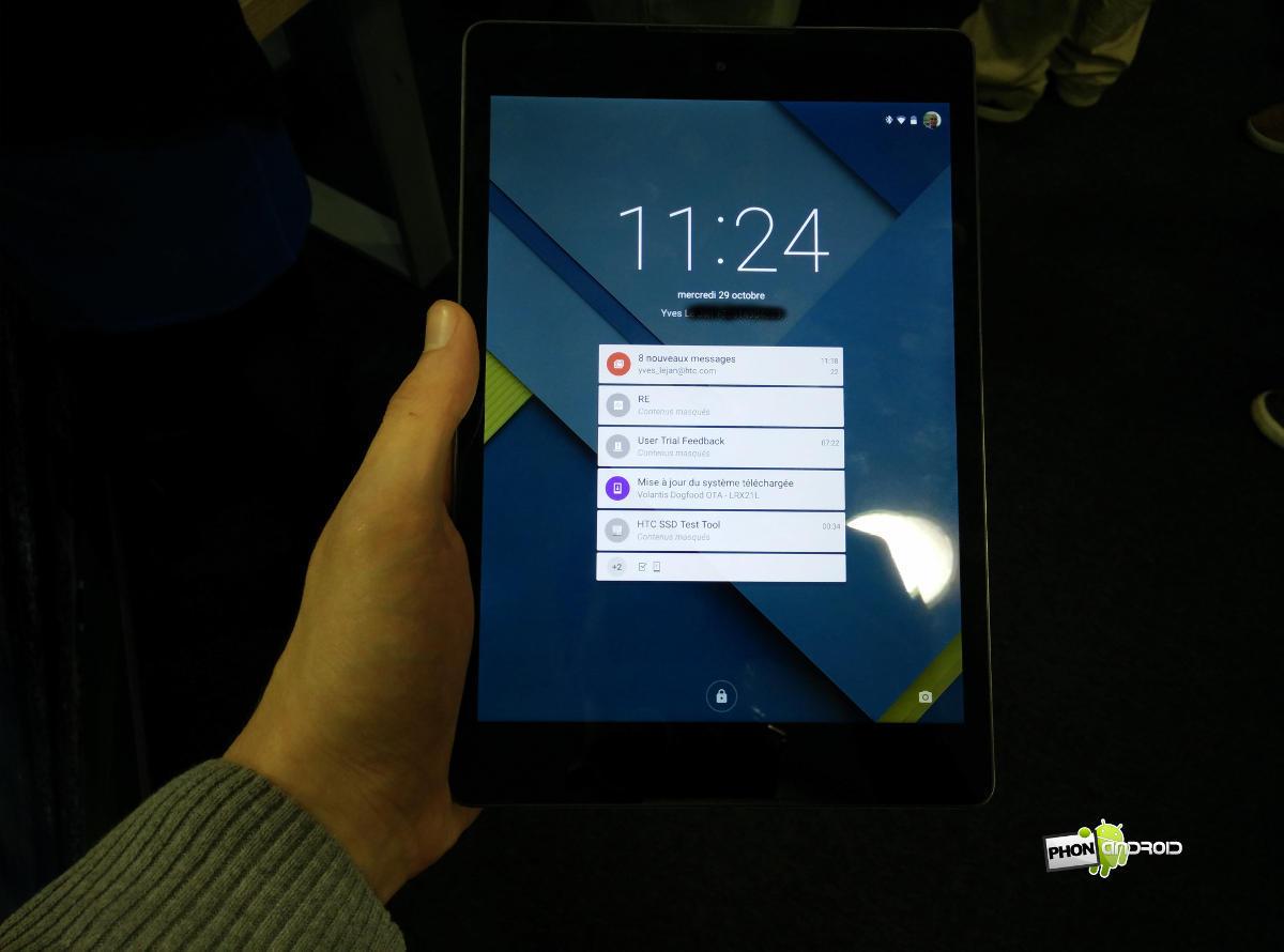 Nexus 9 notre prise en main de la tablette