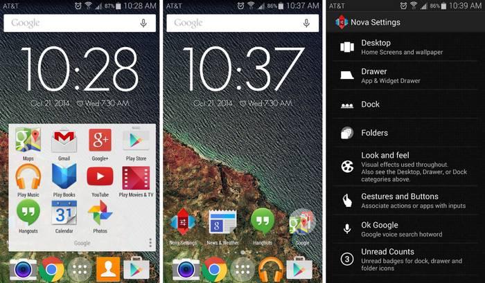 Nova Laucher Android 5.0 Lollipop