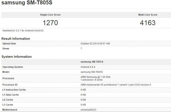Galaxy Tab S Exynos 5433