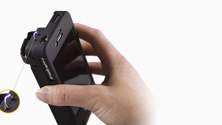 smartphone coque electrique arme