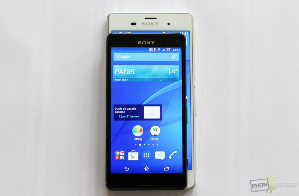 sony xperia z3 compact taille