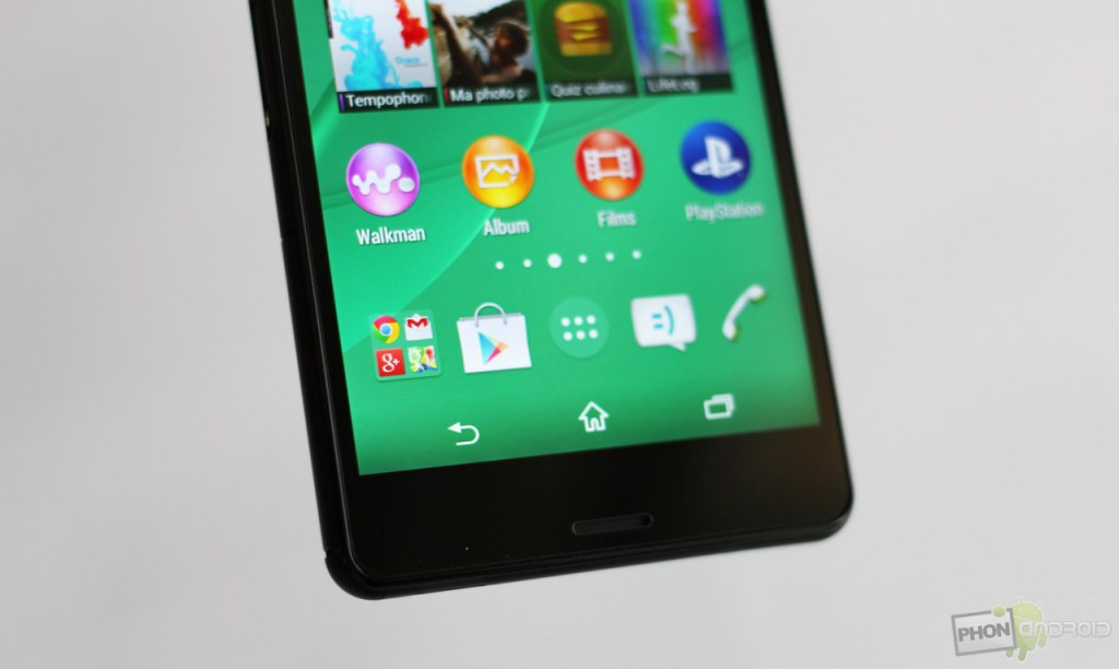 sony xperia z3 compact touche tactile