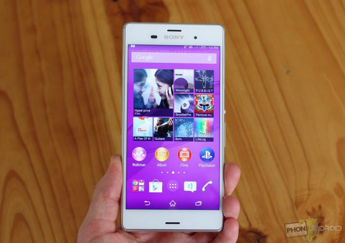 test Sony Xperia Z3