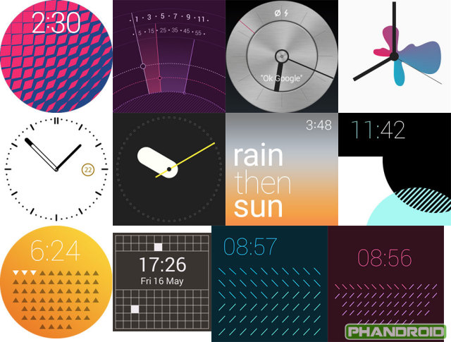 Android-wear-lollipop-watch-faces