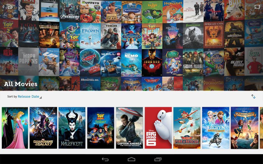 Le catalogue Disney Movies