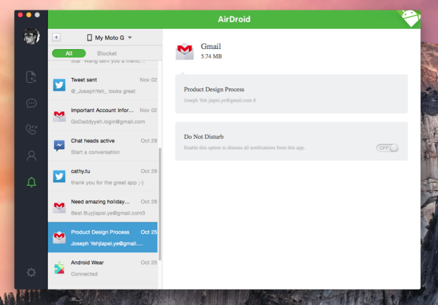 airdroid 3.0 notifications