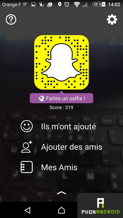 ajouter amis snapchat