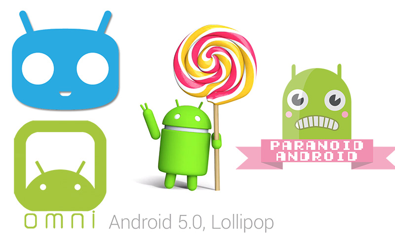 android lollipop cyanogenmod omnirom paranoid android
