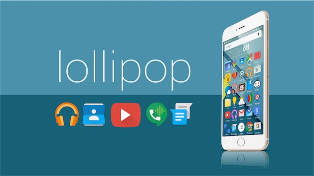 android lollipop iphone theme