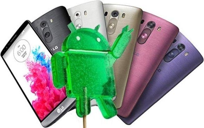 mise à jour LG G3 Android Lollipop
