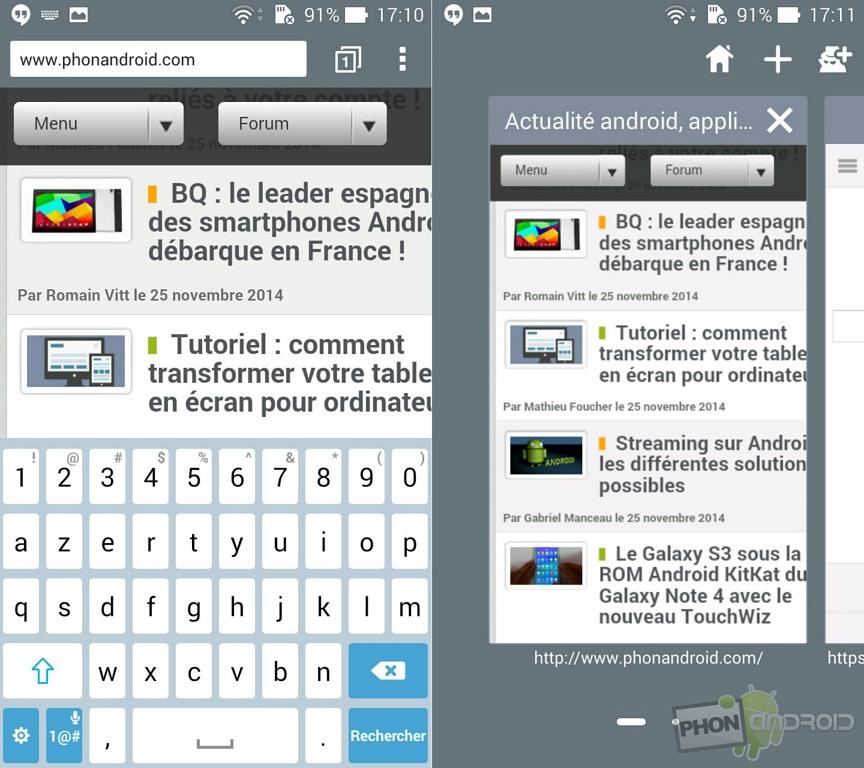 asus zenfone 5 navigateur web