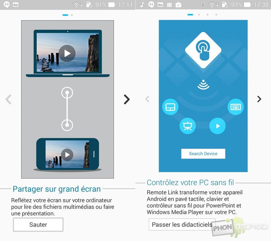 asus zenfone 5 partage ecran pc
