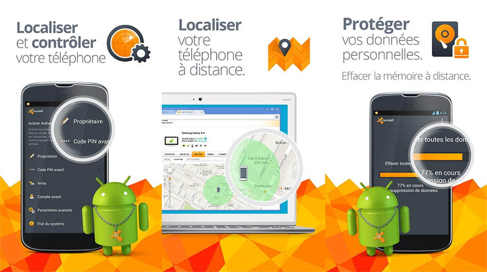 avast retrouver son smartphone android