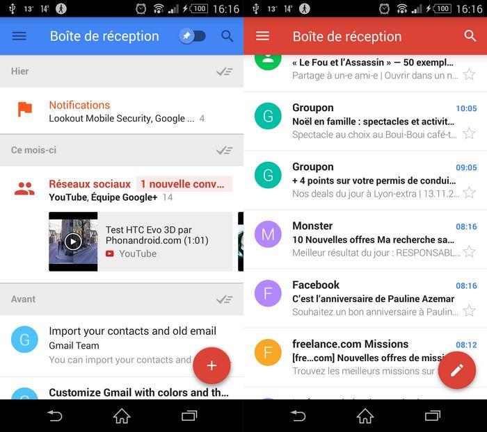 Gmail vs Google Inbox